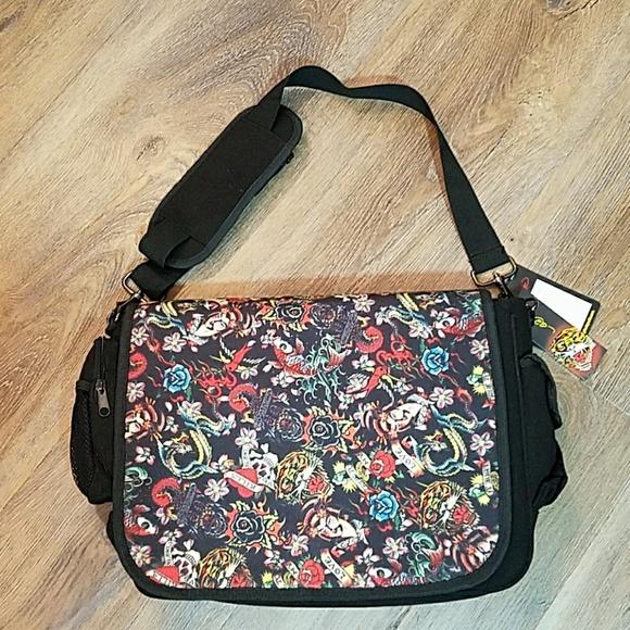 ec157ad2f836 NWT Ed Hardy RARE pattern Messenger bag